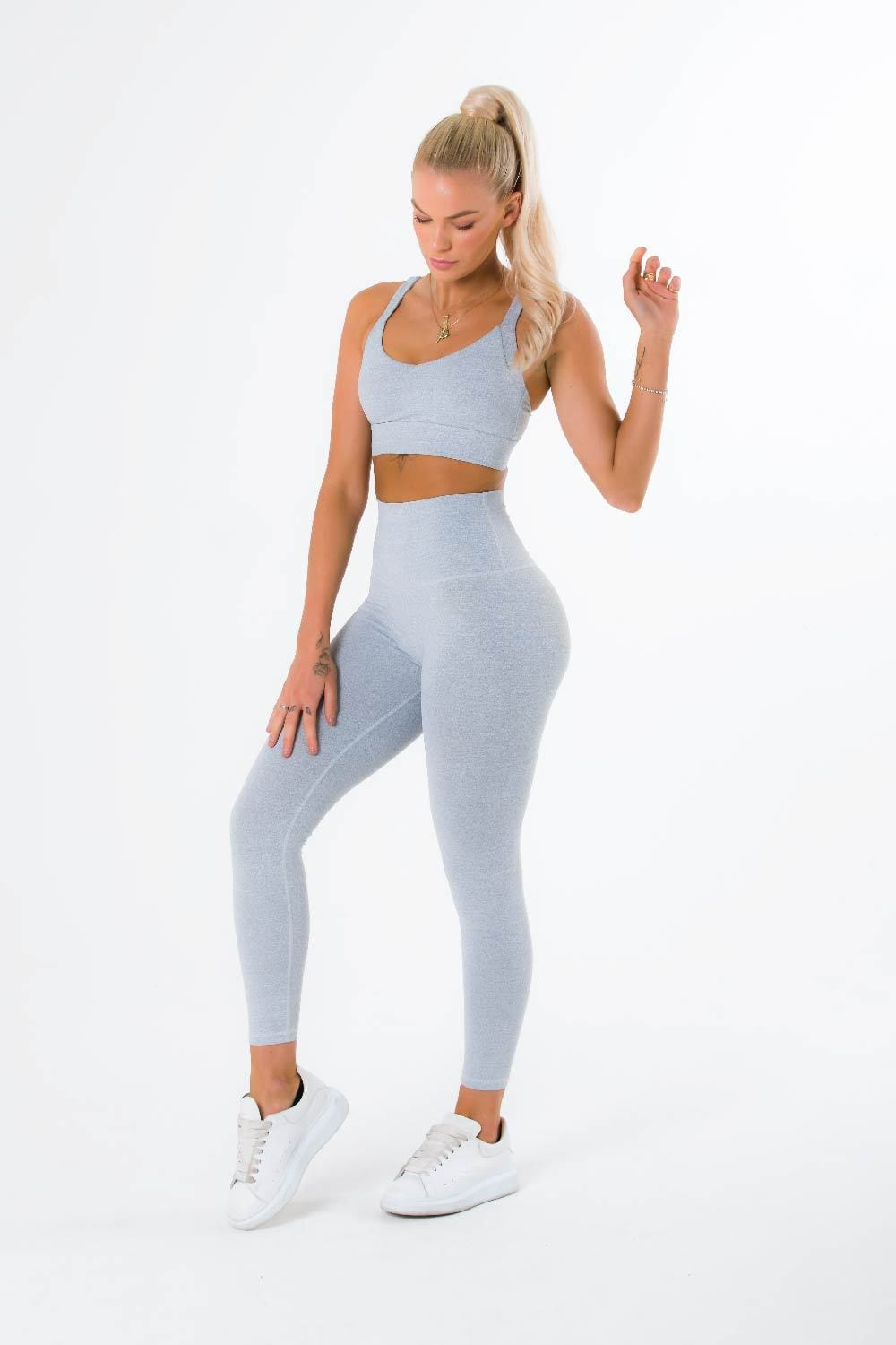 The Match Leggings - White Speckle