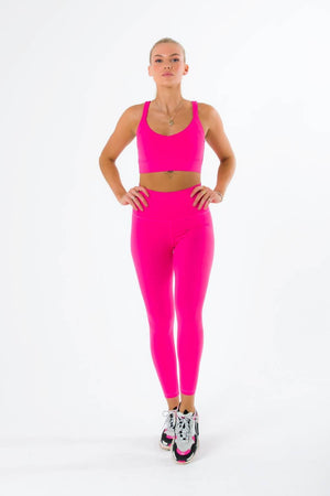 The Match Leggings - Hot Pink