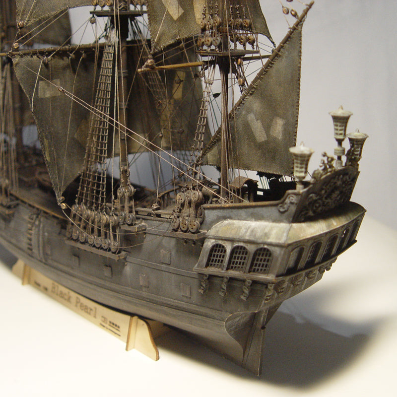 Wooden Ship Models Kits Black Pearl 1/96 Train Hobby Scale Boats 3d Laser  Cut Diy Black Pearl