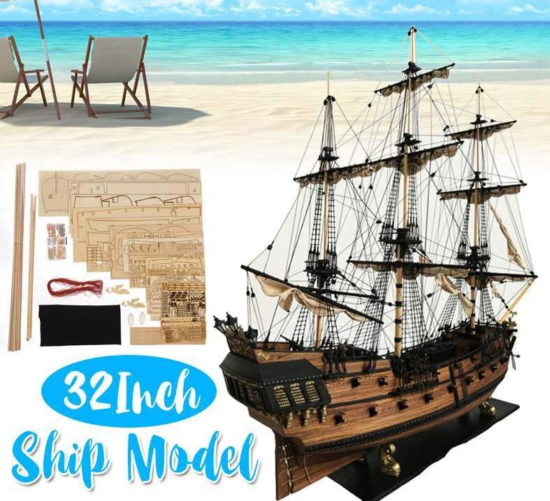 Wooden Ship Models Diy Handmade Assembly Ship 32 Scale