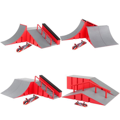 Fingerboard Deck Skate Park Kit Mini Finger Skate Board Table Game Ramp  Track Toy Extreme Sports Enthusiasts