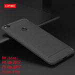 Honor 8 lite Case for Huawei P8 Lite 2017 Case Silicone Soft TPU Brushed Carbon Fiber Phone Cases for Hiawei P9 Lite 2017 Cover