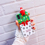 Luminous Cute Cartoon Christmas Santa Claus Phone Cases
