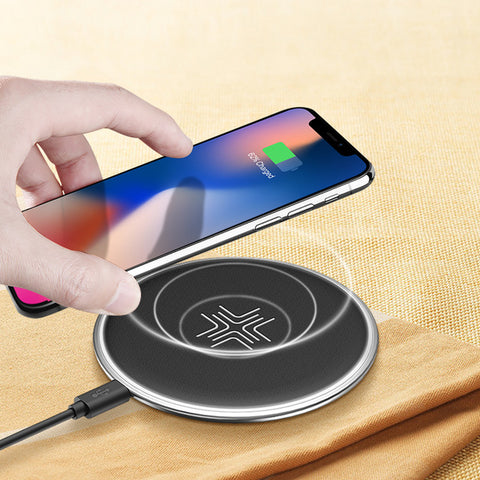 10W Qi Fast Wireless Charging Pad with LED Breathing Light