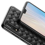 Baseus Luxury Pattern Case For Huawei P20 Creative Grid Weaving Silicone Case For Huawei P20 Pro Ultra Thin Phone Accessories