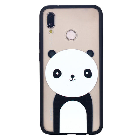Giant Panda Shape Phone Case Soft Ultrathin TPU Case Embossment Varnish Design Drop-proof Phone Case Shell for Huawei