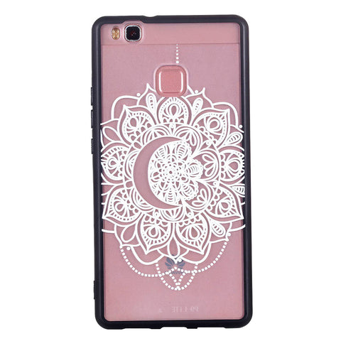 Lace Phone Case Soft Bumper Case Embossment Varnish Phone Cover Decorative Bumper Cover for Huawei