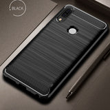 Huawei P20 Lite Case Cover Shockproof Carbon Fiber Bumper Rugged TPU Silcone Protector Case Cover For Huawei P20 Lite/Pro