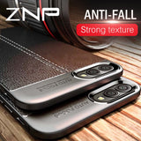 ZNP Luxury Litchi Leather Material Phone Case For Huawei Nova 2 3i 2s 3 3e Soft TPU Cover For Honor V9 Play 10 Lite 8X Max Cases