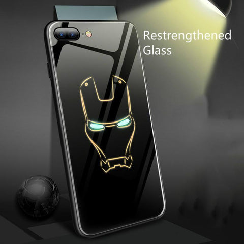 Super Hero Luminous Glass Phone Case