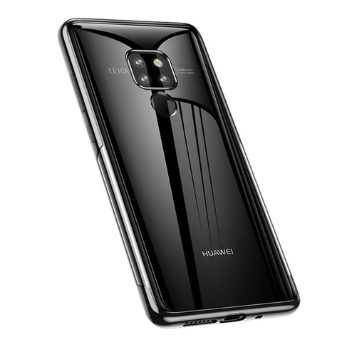 Baseus Luxury Plating TPU Case For Huawei Mate 20 Ultra Thin Soft Silicone Case For Huawei Mate 20 Pro Phone Cover Transparent