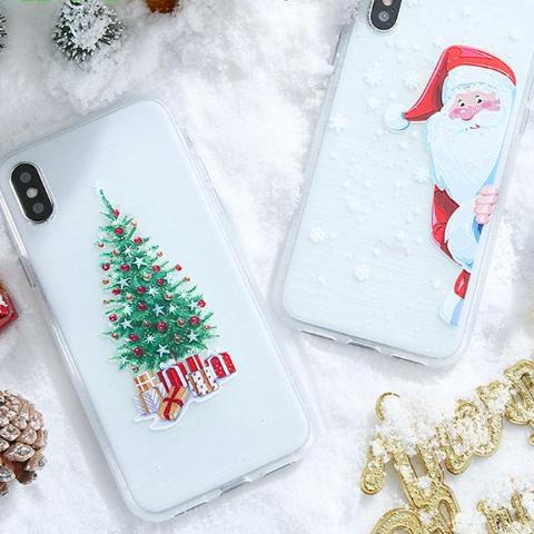 White Theme TPU Christmas Case