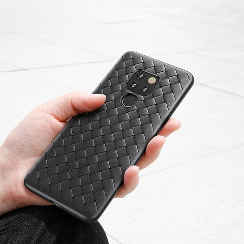 Baseus Weaving Grid Pattern Case For Huawei Mate 20 20 Pro Ultra Thin Smooth Soft Silicone Case For Huawei Mate 20 Phone Cover