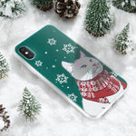 Cute Christmas Design Cartoon Soft TPU Cases