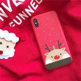 Red Theme Design TPU Christmas Case