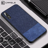 CAFELE TPU Fabric Case for Huawei P20 Pro Lite Anti-knock Protective Case for Huawei P20 Seamless Business Soft Cover