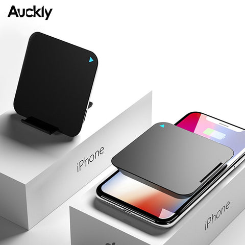 Auckly Fast Wireless Charger 10W Qi Wireless Power Bank For Samsung S9/S9 Plus/S8/S8 Plus 2 In 1 Portable Wireless Charging Pad