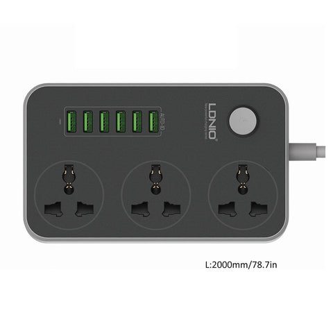 3 Socket+6 USB Ports Charging Board