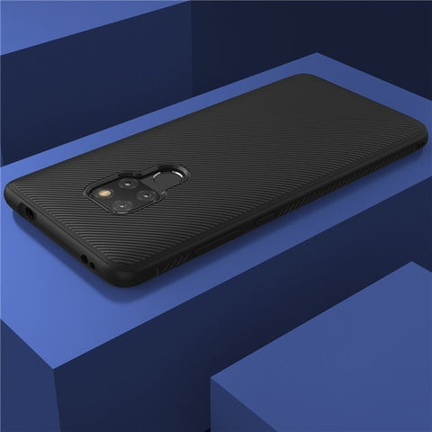 Huawei Mate 20 Case Mate 20 Cover Lenuo Le-Shen II Shockproof Soft TPU Carbon Fiber Brushed Back Cover Case For Huawei Mate20