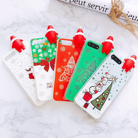 Luminous Christmas Santa Claus Soft Phone Cases