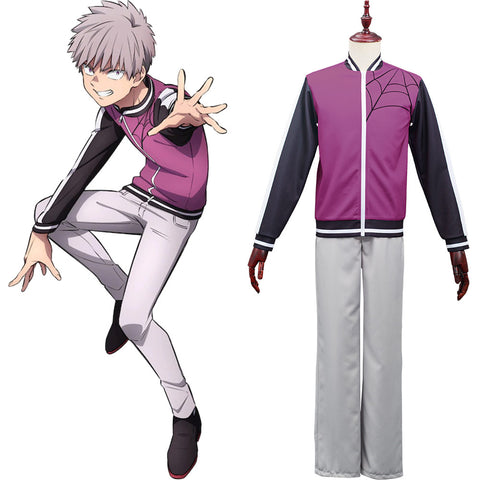 Anime Kemono Jihen Halloween Carnival Suit Shiki Tademaru Cosplay Costume Top Pants Outfits
