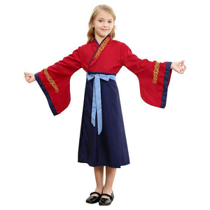 Traditional Chinese Dress Mulan Princess Dress For Little Girl Cosplay Costume