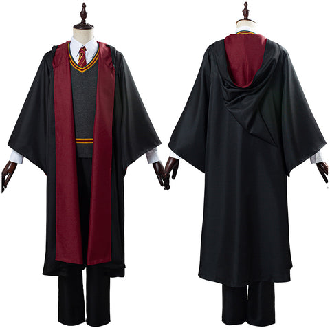 Harry Potter Gryffindor Robe Cloak Outfit School Uniform Cosplay Costume Halloween Carnival Costume