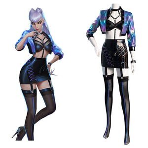 League of Legends LOL Halloween Carnival Suit KDA Agony's Embrace Evelynn Cosplay Costume Women Skirt Outfits