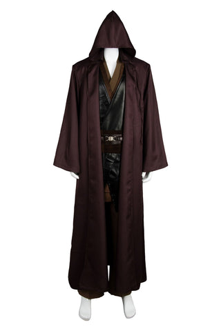 Star Wars Anakin Skywalker Jedi Costume Outfit Robe