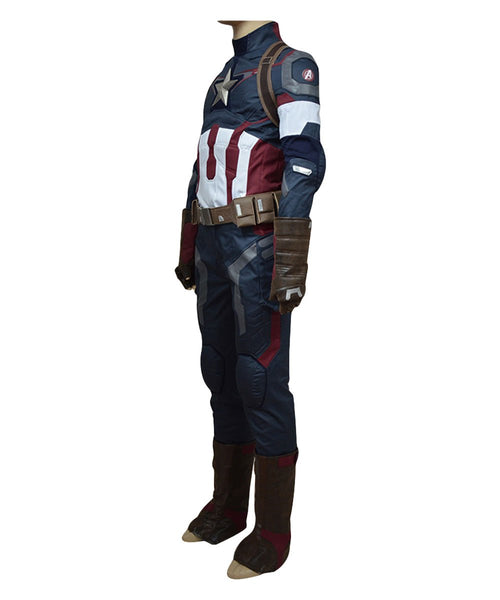 Avengers: Age of Ultron Captain America Steve Rogers Uniform Outfit Cosplay Costume
