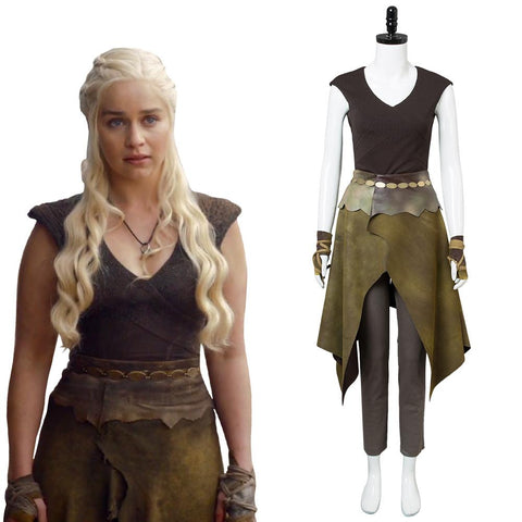 GOT Game of Thrones Season 6 Daenerys Targaryen Dany Mother of Dragon Outfit Cosplay Costume