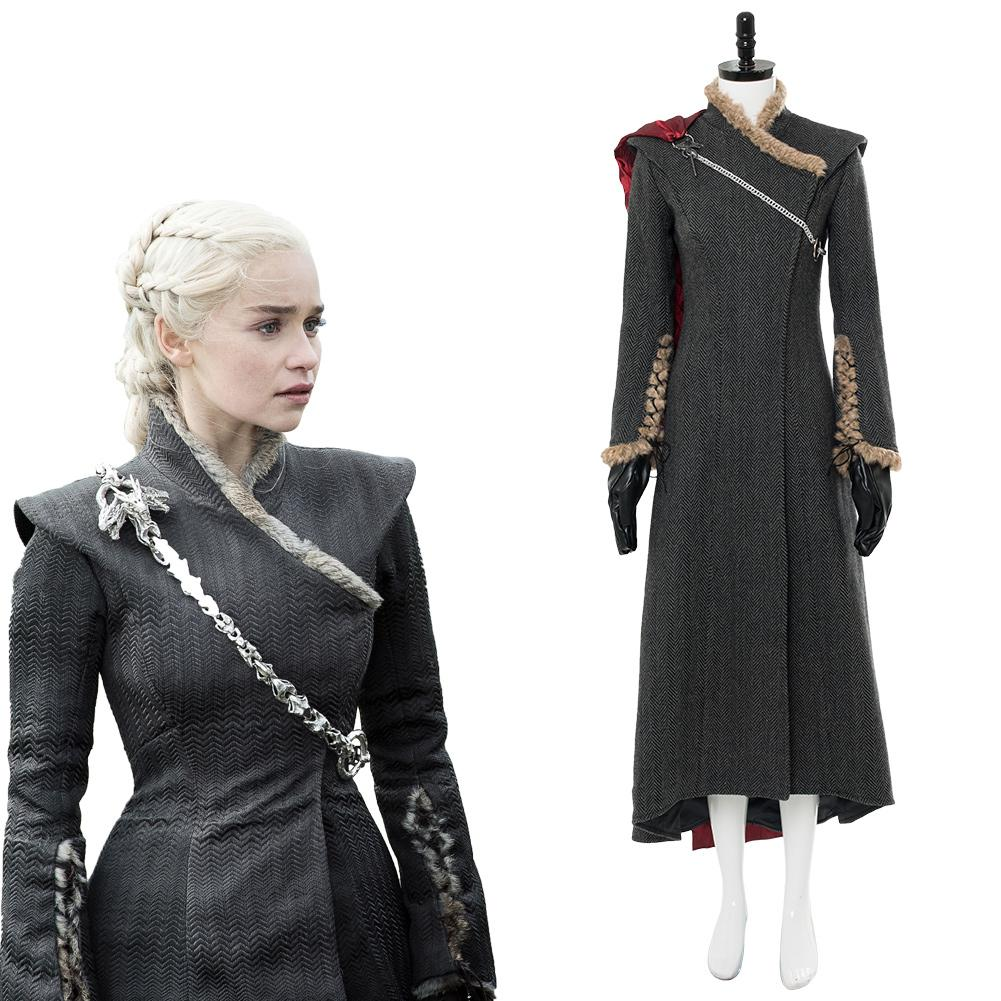 a43e747d7 Game of Thrones Season 7 Daenerys Targaryen Dany Mother of Dragon Outfit Gown  Dress ...