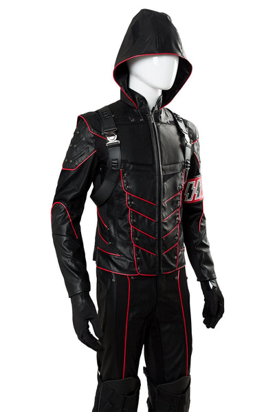 Arrow Dark Arrow Tommy Merlyn Outfit Suit hood Cosplay Costume