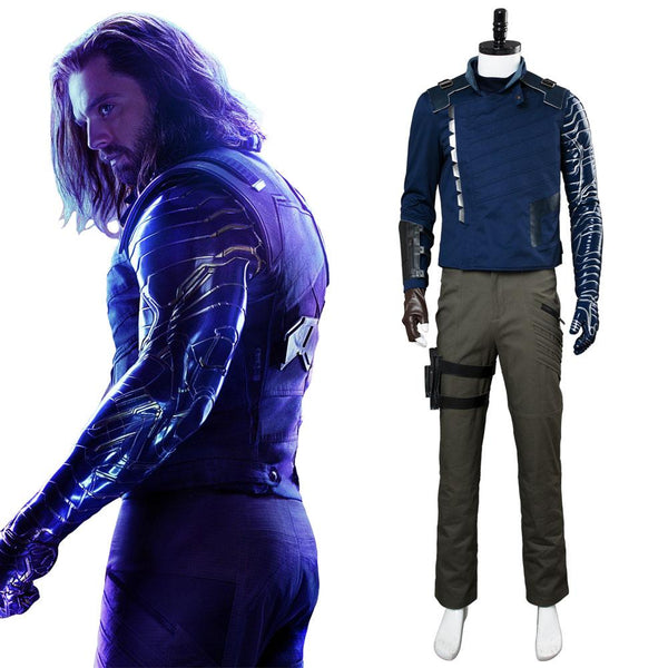 Avengers 3 : Infinity War Winter Soldier Outfit Suit James Buchanan Barnes Cosplay Costume