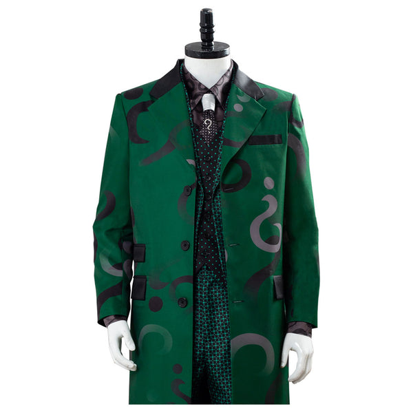 Edward Nygma Gotham Season 5 The Riddler Green Uniform Cosplay Costume