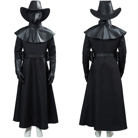 Plague Doctor Kids Children Halloween Carnival Suit Outfit Cosplay Costume