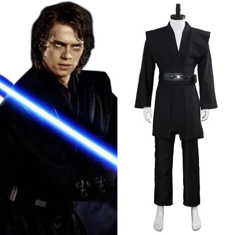 Star Wars Kenobi Jedi TUNIC Cosplay Costume Black Version No Cloak