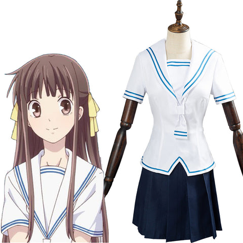 FRUITS BASKET 2 Women Girls Top Skirt Outfit Honda Tohru Cosplay Costume Halloween Carnival Costume