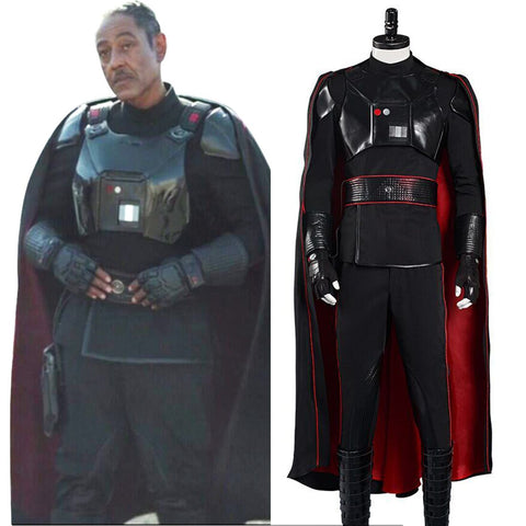 Star Wars The Mandalorian Halloween Carnival Suit Moff Gideon Cosplay Costume Cloack Vest