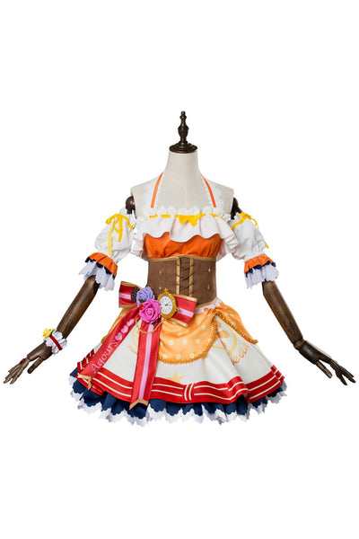 Love Live ! Sunshine !! Chika Takami Valentine's Day Dress Cosplay Costume