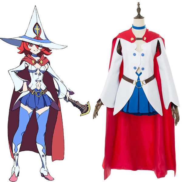 Little Witch Academia Ursula Callistis Shiny Chariot Dress Cape Cosplay Costume