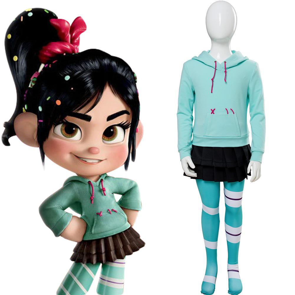 Ralph Breaks the Internet: Wreck-It Ralph 2 Vanellope von Schweetz Cosplay Costume For Kids
