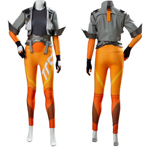 Lena Oxton OW2 Overwatch Tracer Suit Cosplay Costume