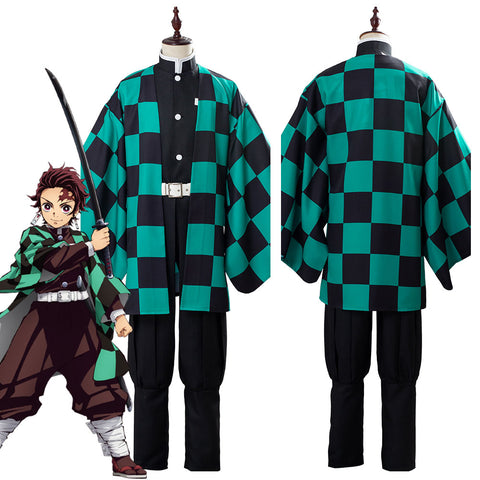 Demon Slayer: Kimetsu no Yaiba Tanjirou/Tanjiro Kamado Suit Cosplay Costume