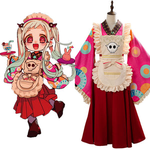Toilet-Bound Hanako-kun Costume Nene Yashiro Kimono Maid Dress Cosplay Costume