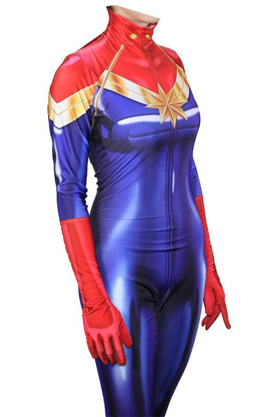Avengers 3 Infinity War Captain Marvel Ms.Marvel Jumpsuit Cosplay Costume