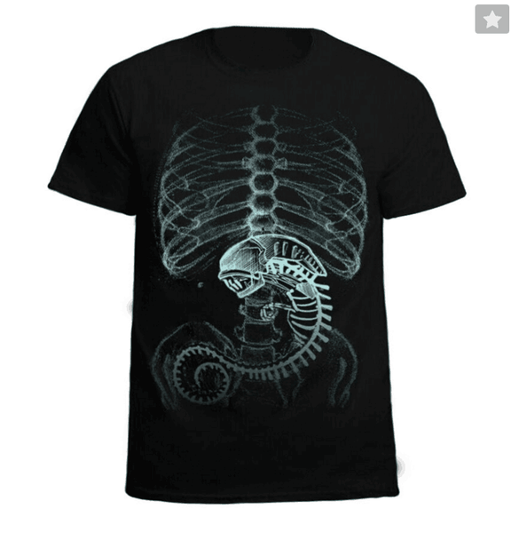 Alien vs. Predator Cotton Black T-Shirt Costume