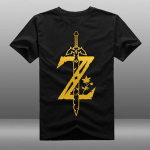 The Legend of Zelda :Breath of the Wild Custom Black T-shirt Costume