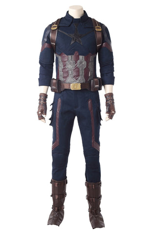 Avengers 3 : Infinity War Captain America Steven Rogers Outfit Uniform Suit Cosplay Costume