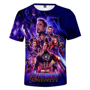 Avengers 4 :Endgame Captain America Marvel Iron Man Printed T-shirt